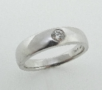 Duet Men s Burnished Band   by Hearts On Fire 0.19ct G/H VS-SI Hearts On Fire 18K white gold