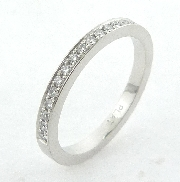 Platinum band -set with ideal round brilliant cut diamonds by Hearts On Fire; 0.144 carat total weight; VS-SI; G/H