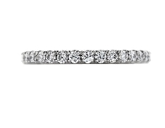 18K white gold band; known as  Enrichment  by Hearts On Fire; set with ideal round brilliant cut diamonds by Hearts On Fire 0.51 carat total weight; VS2-SI1; G/H