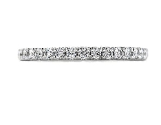 18K white gold band; known as  Repertoire Select Wedding Band  by Hearts On Fire -set with ideal round brilliant cut diamonds by Hearts On Fire; 0.26 carat total weight; VS-SI; G/H