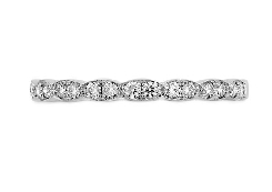 18K White Gold band known as   Lorelei Floral   by Hearts On Fire set with 0.24 carat total weight VS-SI;G-H