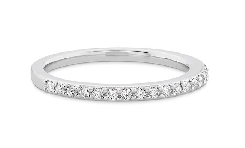 18KW Camilla Diamond Band by Hearts On Fire set with: - 0.17cttw; I/J; VS-SI