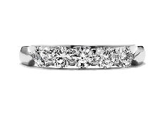 18K white gold diamond band by Hearts on Fire Set with ideal round brilliant cut diamonds by Hearts On Fire:  - 0.332ct I VS2 (HOF139132)  - 0.332ct I VS2 (HOF138790)  - 0.330ct I VS2 (HOF140248)  - 0.333ct I VS2 (HOF139133)  - 0.334ct I VS2 (