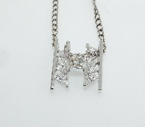 14KW pendant by Studio Tzela set with:   - 0.265 ct; G; VS1 Dream by Hearts On Fire DRM14871