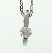 14K white gold pendant -set with one ideal round brilliant cut diamond by Hearts On Fire; 0.316ct J;VS2  (Non-serialized)
