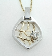 14K white and yellow gold pendant by Studio Tzela set with - 0.323ct J Si1  HOF122328
