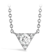 18K white gold pendant   Triplicity Triangle pendant   by Hearts On Fire set with:  - 4*= 0.27cttw