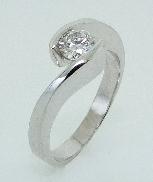 18K white gold dimaond engagement ring TSR-083 0.32ct E/F VS G/VG cut diamond TS-TD-007