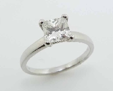 Diamond Engagement ring 18 K white gold 1.01 ct H VVS2 Firemark GIA1146895422