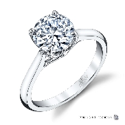 Diamond engagement ring by Parade 18K white gold -.75ct CZ centre