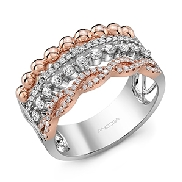 14KWR lady s diamond ring by Ancora set with: - 80 round brilliant cut diamonds; 0.49cttw; G/H;  VS-SI