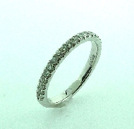 18KW ladies diamond band to match R3671B by Parade Designs set with: - 20 round brilliant cut diamonds; 0.33 cttw; G/H; SI