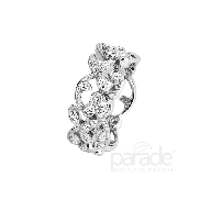 18 KW ladies diamond ring by Parade Designs set with: - 32 round brilliant cut diamonds; 0.54 cttw; G/H; SI