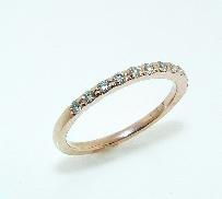 14K rose gold wedding band 11*=0.13cttw SI1; F/G 1.5mm Excellent cut