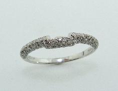 18K white gold wedding band 0.35cttw G/H SI-VS diamonds matching band to 400-05-293848