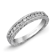 14K white gold ladies band by Ancora set with:   - 18*-0.40cttw diamonds