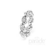 18KW ladies band by Parade Designs set with: - 63 round brilliant cut diamonds; 0.35 cttw; G/H; SI
