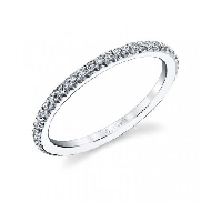 18K white gold diamond wedding band by Sylvie Collection 0.22carats SI-VS G+ round brilliant cut diamonds