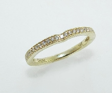 14K yellow gold wedding ring by Sylvie   BSY122   set with 33*= 0.0.23cttw diamonds