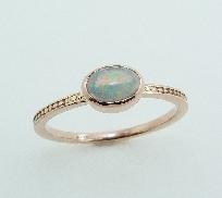 14K rose gold ring 0.239ct Opal TSR-700