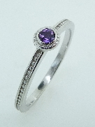 14K white gold Amethyst ring TSR-700RD