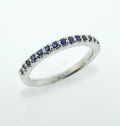 14 K white gold ring - 15* 0.24cttw sapphires