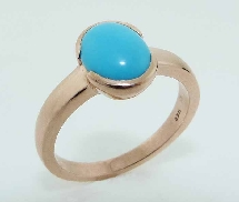 14K rose gold ring 1.27ct Turquoise