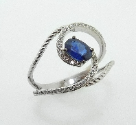 14KW 46*-0.19 & oval sapphire 0.59ct