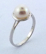 Pearl ring 14KW