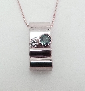 14K white gold pendant 0.21ct Alexandrite 0.05ct Diamond H SI1-2 VG cut