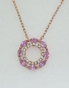 14KR gold necklace 18  /16   cable link 20*=0.13cttw RBC 8*=0.71cttw marquise