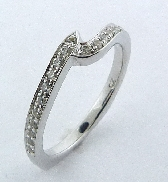 Beloved  Matching Band by Mark Schneider Sterling silver mount set with 0.25ctw CZ