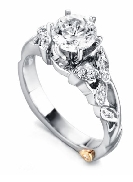Adore  by Mark Schneider Sterling silver mount set with 17 CZ s; 0.085cttw to fit 1 carat