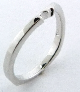 Surge  Matching Band by Mark Schneider Sterling silver band