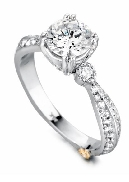 Cherish  by Mark Schneider Sterling silver mount set with 59 CZ s; 0.445ctw to fit 1 carat