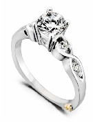 Yours Truly  by Mark Schneider Sterling silver mount set with 0.165ctw CZ s to fit 0.50 carat