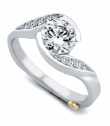 Whirlwind  by Mark Schneider  Sterling silver mount set with 0.085tw CZ s to fit 1 carat