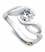 Fire  by Mark Schneider Sterling silver mount set with 0.005ct CZ to fit 1 carat