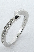 Irresistible  Matching Band by Mark Schneider Sterling silver mount set with 0.26ctw CZ
