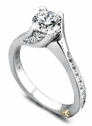 Irresistible  by Mark Schneider Sterling silver mount set with 0.52ctw CZ s to fit 1 carat