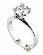 Beloved  by Mark Schneider SS/CZ mount set with 0.005ct CZ to fit 1 carat