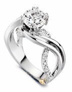 Enchantment  by Mark Schneider Sterling silver mount set with 0.245ctw CZ s to fit 1 carat