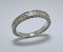 14k White Gold lady s band with engraving