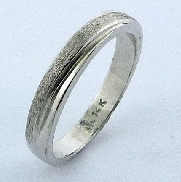 Ladies Band polished and frost finish 14K white gold 3 mm Size 5