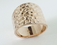 14K rose gold Hammered style Ring