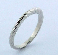 Ladies gold band twisty band to match HOF engagement ring 100-70-60-59736 14k White Gold