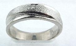 14K brushed  diagonal gold mens band size 10 6.5mm