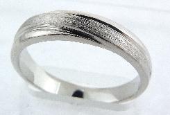 14K gold mens band diagonal brushing size 9.5 4.5mm