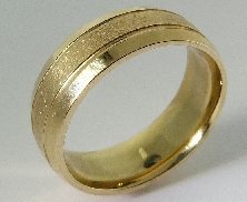 14K yellow gold mens wedding band size 10  D365
