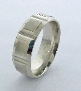 14K wedding band 7.5mm wide size 10